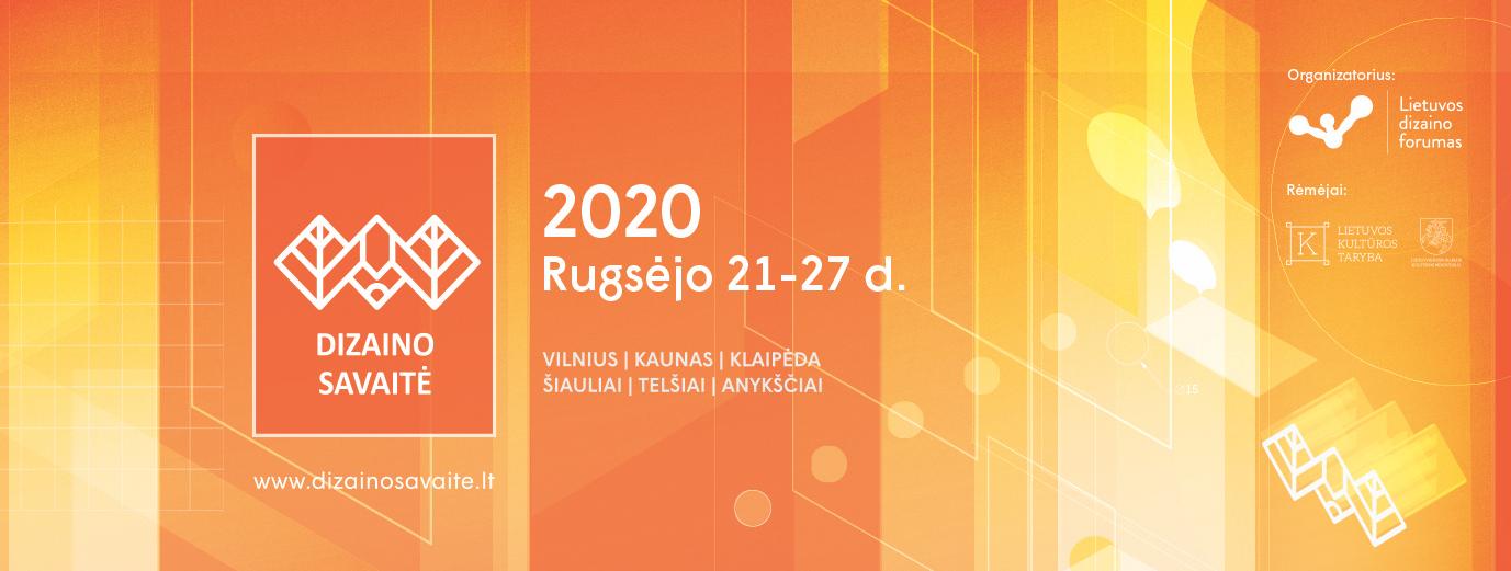Festivalis DIZAINO SAVAITĖ 2020 perkeliamas į rugsėjo 21-27d.